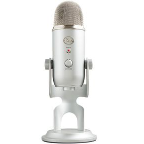Microfone USB Yeti Silver Blue