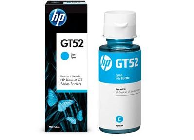 Garrafa de Tinta GT52 Ciano HP