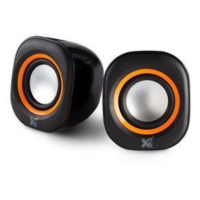 Caixa de Som USB 5V Sound Preta/Laranja Maxprint