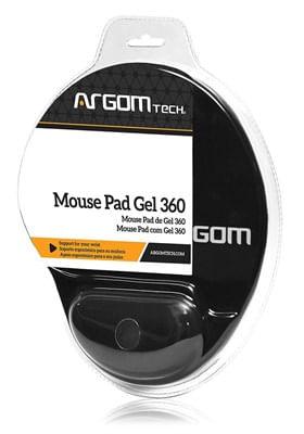 Mouse Pad Gel 360 com Apoio de Pulso ARG-AC-1222 Preto Argom