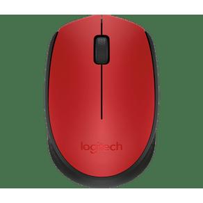 Mouse Sem Fio Wireless M170 Vermelho Logitech