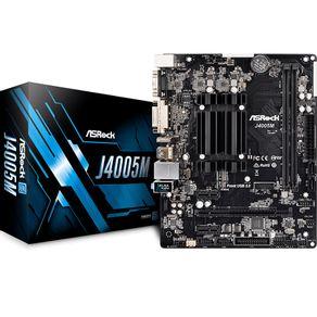 Placa Mae com Processador Intel Dual Core 2.0GHz J4005M ASRock