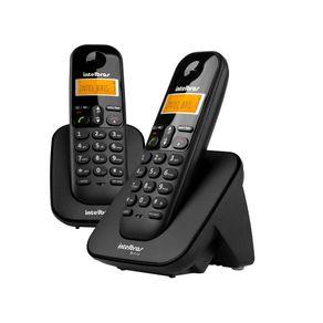 Telefone sem fio com Identificador de Chamadas 1 Ramal TS 3112 Preto Intelbras