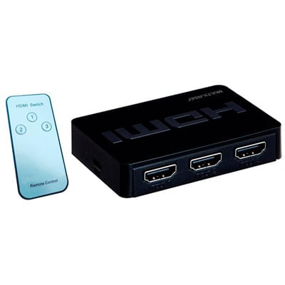 Switch HDMI 3 em 1 WI290 com Controle  Remoto  Multilaser