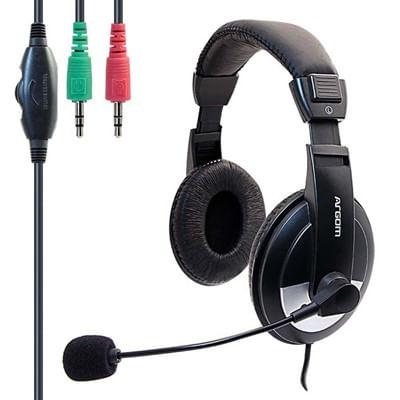Fone de ouvido Headset com fio Pro 75 ARG-HS-0075 Preto Argom