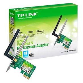 Placa de Rede PCI-Express Wireless 150 Mbps 1x Antena TL-WN781ND Tp-Link