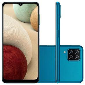 "Smartphone Galaxy A12 Dual 4G Android 10 64GB Cam 48MP+5MP+2MP+2MP+Camera Frontal 8MP Octa-Core Tela Infinita 6.5"" Azul Samsung"