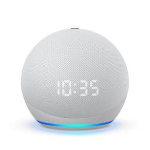 Dispositivo Smart Home Echo Dot 4G Alexa com Relogio Branco Amazon