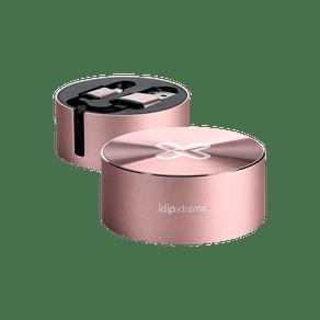 Cabo USB Retratil para USB-C 1M Rosa Xtech