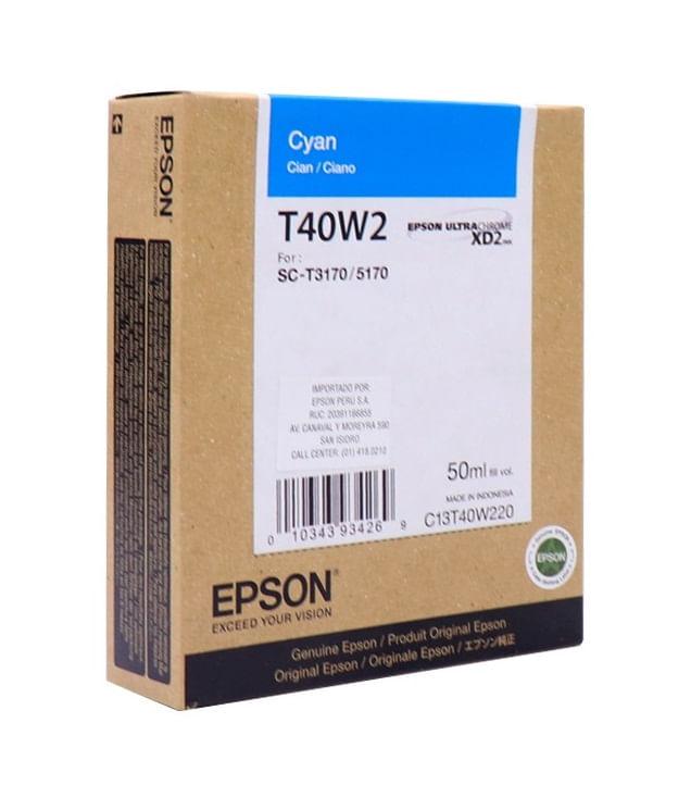 Cartucho de Tinta UltraChrome XD2 Ciano T40W220 Epson
