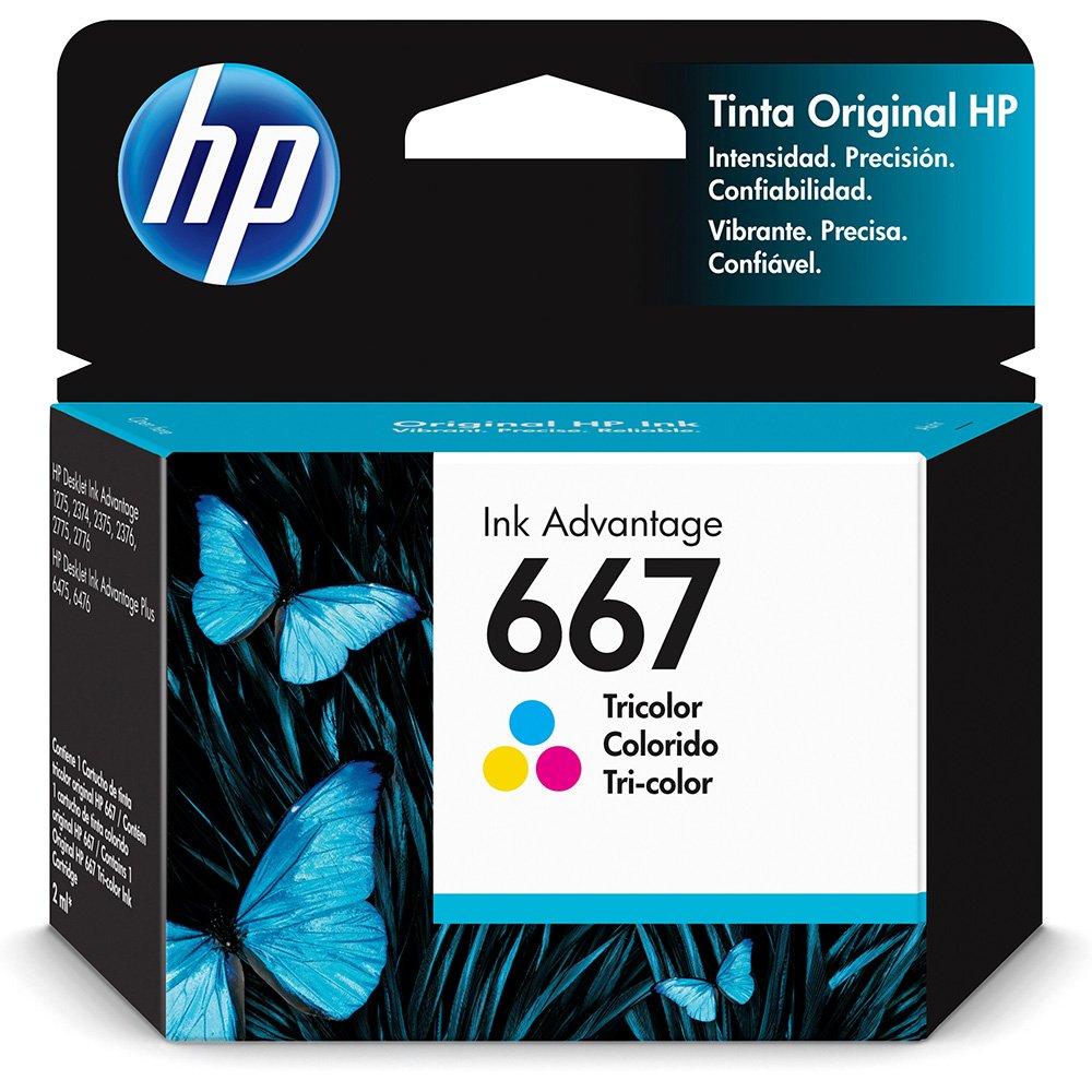 Cartucho de Tinta 667 Colorido 3YM38AB HP