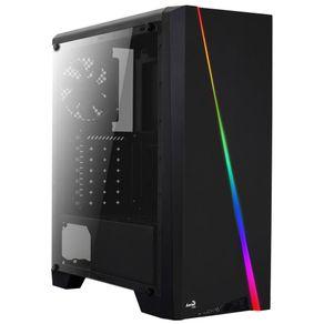 Gabinete ATX Mid Tower RGB Cyclon Preto - Aerocool