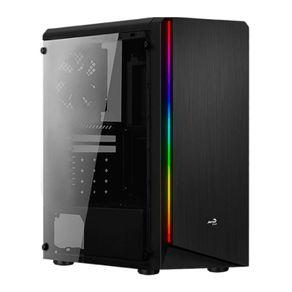 Gabinete ATX Mid Tower RGB Rift Preto - Aerocool