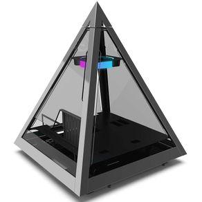 Gabinete ATX Torre Pyramid RGB Prata Azza