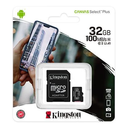 Cartao de Memoria Micro SD HC 32GB Classe 10 SDCS2/32GB Kingston