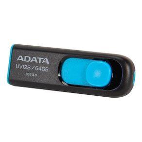 Pendrive 64GB USB 3.0 UV128 Preto Adata