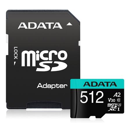 Cartao de Memoria Micro SD XC 512GB Classe 10 Adata