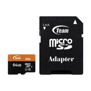 Cartao de Memoria Micro SD XC 64GB Classe 10 Team Group