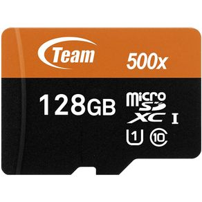 Cartao de Memoria Micro SD XC 128GB Classe 10 Team Group