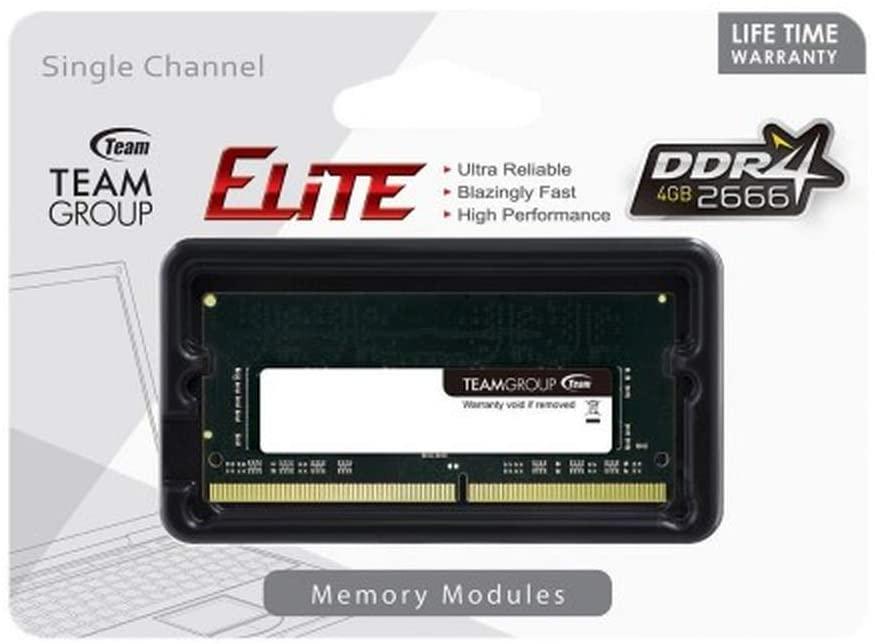 Memoria Ram para Notebook 4GB DDR4 2666Mhz Team Group