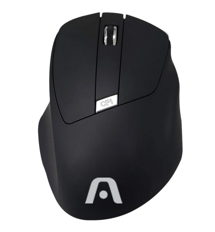 Mouse Sem Fio Maxi Preto Argom