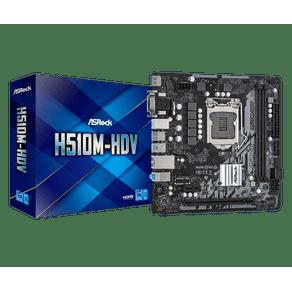 Placa Mae Micro ATX para Intel 1200 10G H510M-HDV Asrock