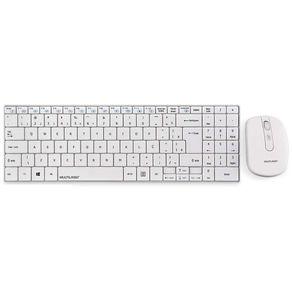 Kit Teclado e Mouse Sem Fio Mini Slim ABNT2 TC203 Branco Multilaser