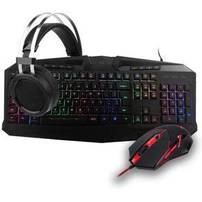 Kit Gamer com Teclado + Mouse + Mouse Pad e Headset S112 - Redragon