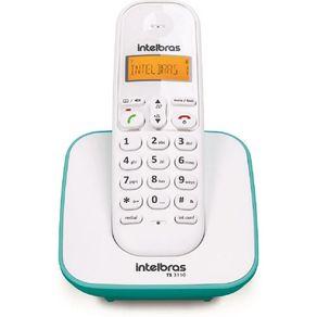Telefone de Mesa Sem Fio TS 3110 Branco / Azul Intelbras