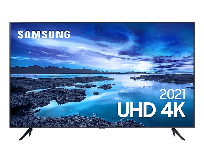 "Samsung Smart TV 43"" UHD 4K 43AU7700, Processador Crystal 4K, Tela sem limites, Alexa built in, Controle Unico"