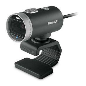 Webcam 720P HD Mic USB LifeCam Preta Microsoft