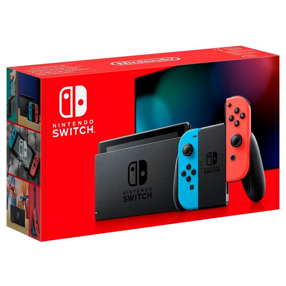 Console Nintendo Switch 32GB New com joy Con Vermelho/Azul (Nacional) - Nintendo