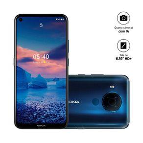 "Smartphone Nokia 5.4 NK026 4G Dual Android 10 128GB Cam 48mp+2mp+5mp+2mp 6.3"" Azul"