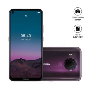"""Smartphone Nokia 5.4 NK026 4G Dual Android 10 128GB Cam 48mp+2mp+5mp+2mp 6.3"""" Roxo"""