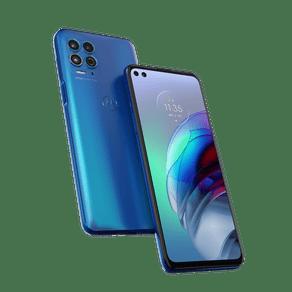Smartphone Moto G100 5G Android 11 Doc + Cab 256GB Cam Quadrupla 64MP+16MP+2MP+TOF Cam Frontal 16MP+8MP Octa-Core Tela 6,7