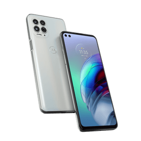 "Smartphone Moto G100 5G Dock + Cab Android 11 256GB Cam Quadrupla 64MP+16MP+2MP+TOF Cam Frontal 16MP+8MP Octa-Core Tela 6,7"" Branco Motorola"
