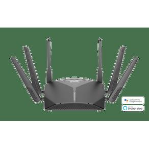 Roteador Wi-Fi  AC 3000MB Smart Mesh EXO com Controlador de Voz Google e  Alexa Tri Band DIR-3040 - D-Link