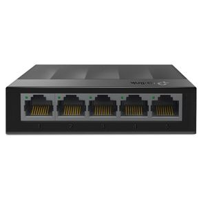Switch 5 Portas 10/100/1000 Mbps Lite Wave Giga Preto LS1005G - TP Link