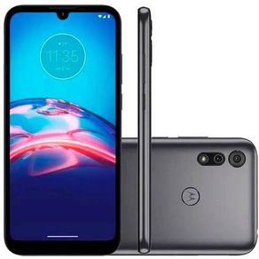 "Smartphone Moto E6I Android 10 32GB Cam 13MP+2MP Cam Frontal 5MP Octa-Core Tela 6,1"" Cinza Motorola"