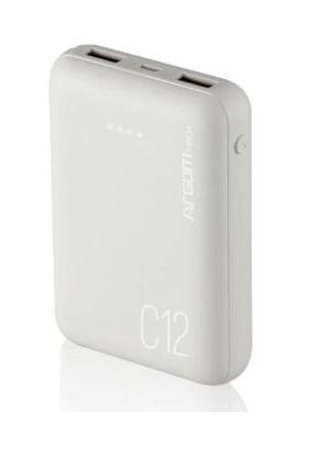 Carregador Portatil USB / MicroUSB 12000 MAH C12 Branco Argom