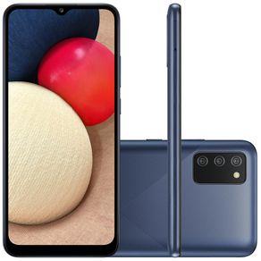 "Smartphone Galaxy A02s Dual 4G Android 10 32GB Cam 13MP+2MP+2MP+Camera Frontal 5MP Octa-Core Tela Infinita 6.5"" Azul Samsung"