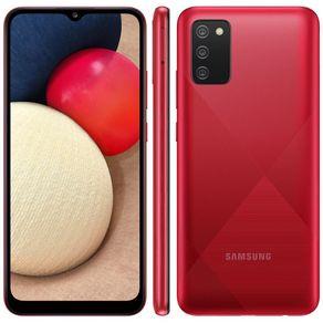 "Smartphone Galaxy A02s Dual 4G Android 10 32GB Cam 13MP+2MP+2MP+Camera Frontal 5MP Octa-Core Tela Infinita 6.5"" Vermelho Samsung"