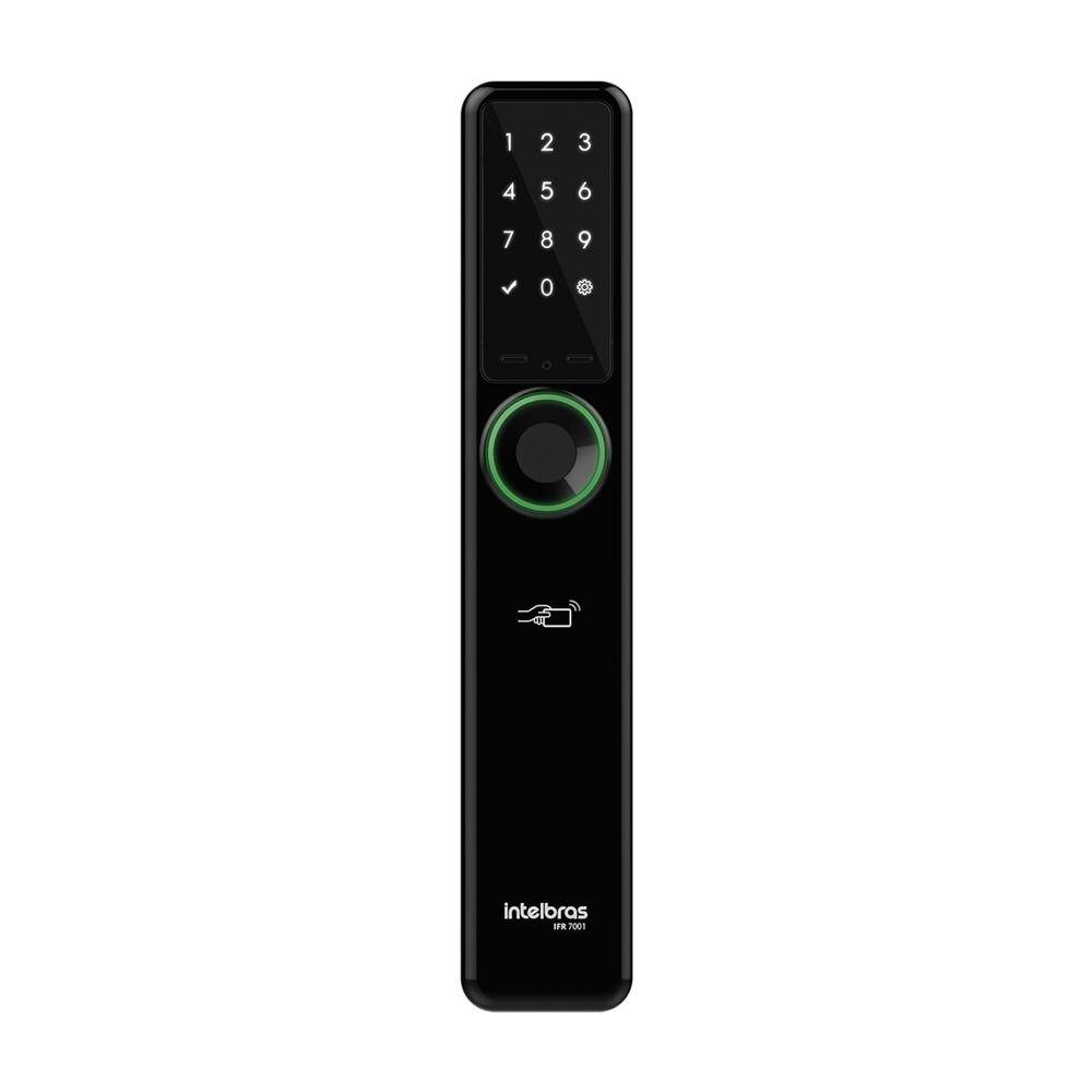 Fechadura Digital Smart de Embutir IFR 7001 sem Macaneta Preto - Intelbras