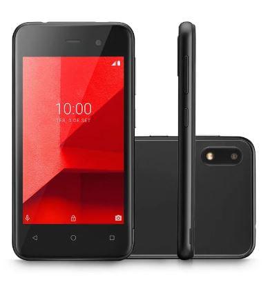 """Smartphone E Lite Dual 3G Android 8.1 32GB Cam 5MP+5MP Quad-Core Tela 4"""" Preto P9126 Multilaser"""
