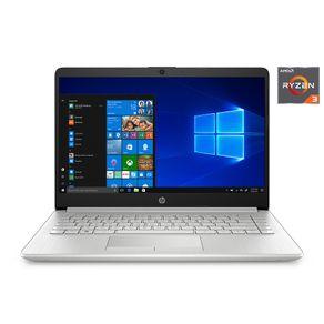 "Notebook HP AMD Ryzen 3 3250U 2.6GHz 4GB SSD 128GB 14"" HD Windows 10 Prata HP"