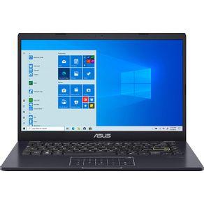 "Notebook E410MA Intel Celeron 1.1 GHz 4GB HD 128GB MMC 14"" LED HD Windows 10 Azul Asus"