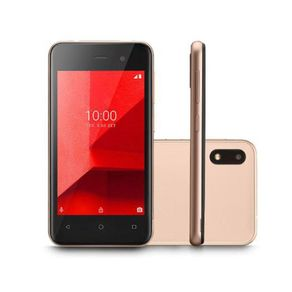 "Smartphone E Lite Dual 3G Android 8.1 32GB Cam 5MP+5MP Quad-Core Tela 4"" Dourado P9127 Multilaser"