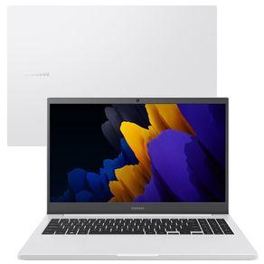"""Notebook Samsung Book Intel I5 2.4GHz 8GB SSD 256GB 15.6"""" LED FHD GeForce MX450 2GB Windows 10 Home Branco Samsung"""