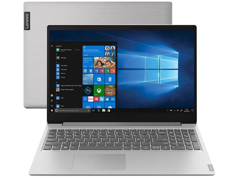 "Notebook Ideapad S145 AMD R3 2.6Ghz 8GB SSD 256GB 15.6"" Windows 10 Lenovo"