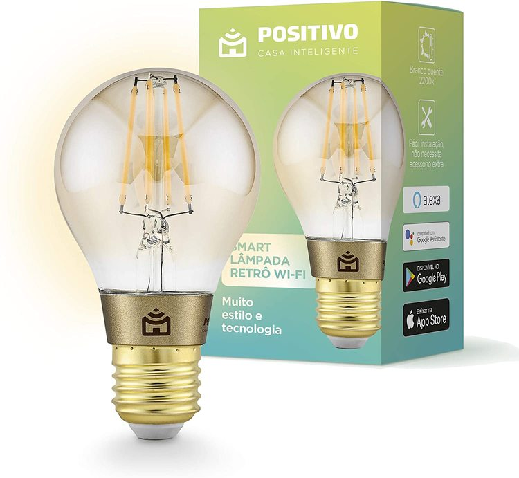Smart Lampada Vintage Filamento Wi-fi Positivo